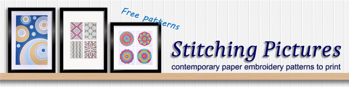 Stitching Pictures contemporary paper embroidery patterns to download, print, stitch and frame.