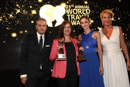 Με Δύο «Όσκαρ» Τουρισμού βραβεύτηκε η Περιφέρεια Πελοποννήσου από τον παγκόσμιο Οργανισμό World Travel Awards