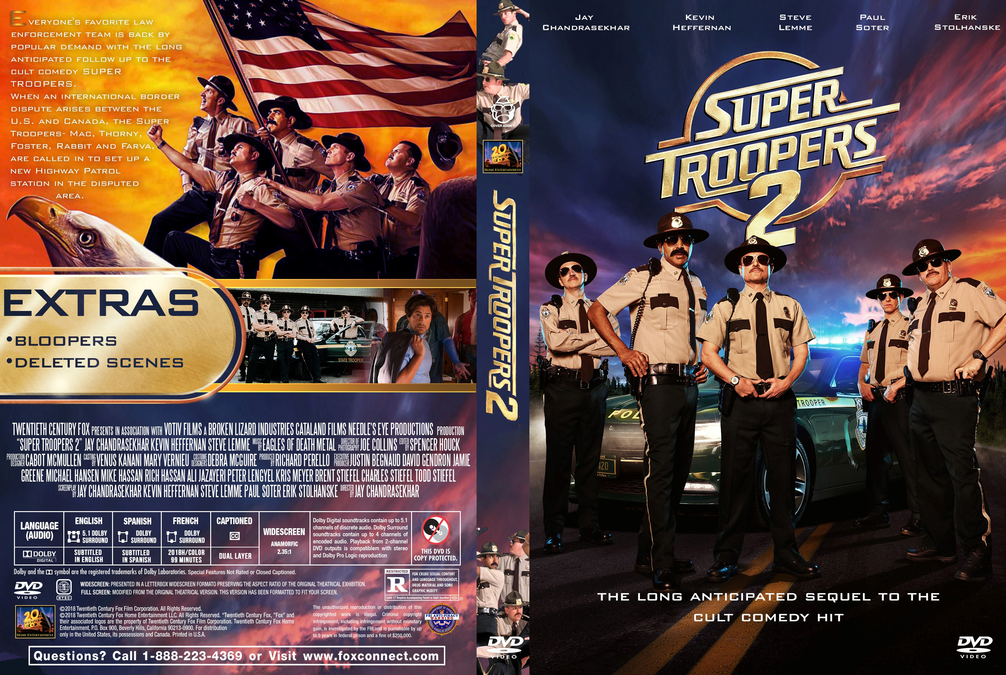 super troopers 2 dvd cover cover addict dvd and bluray