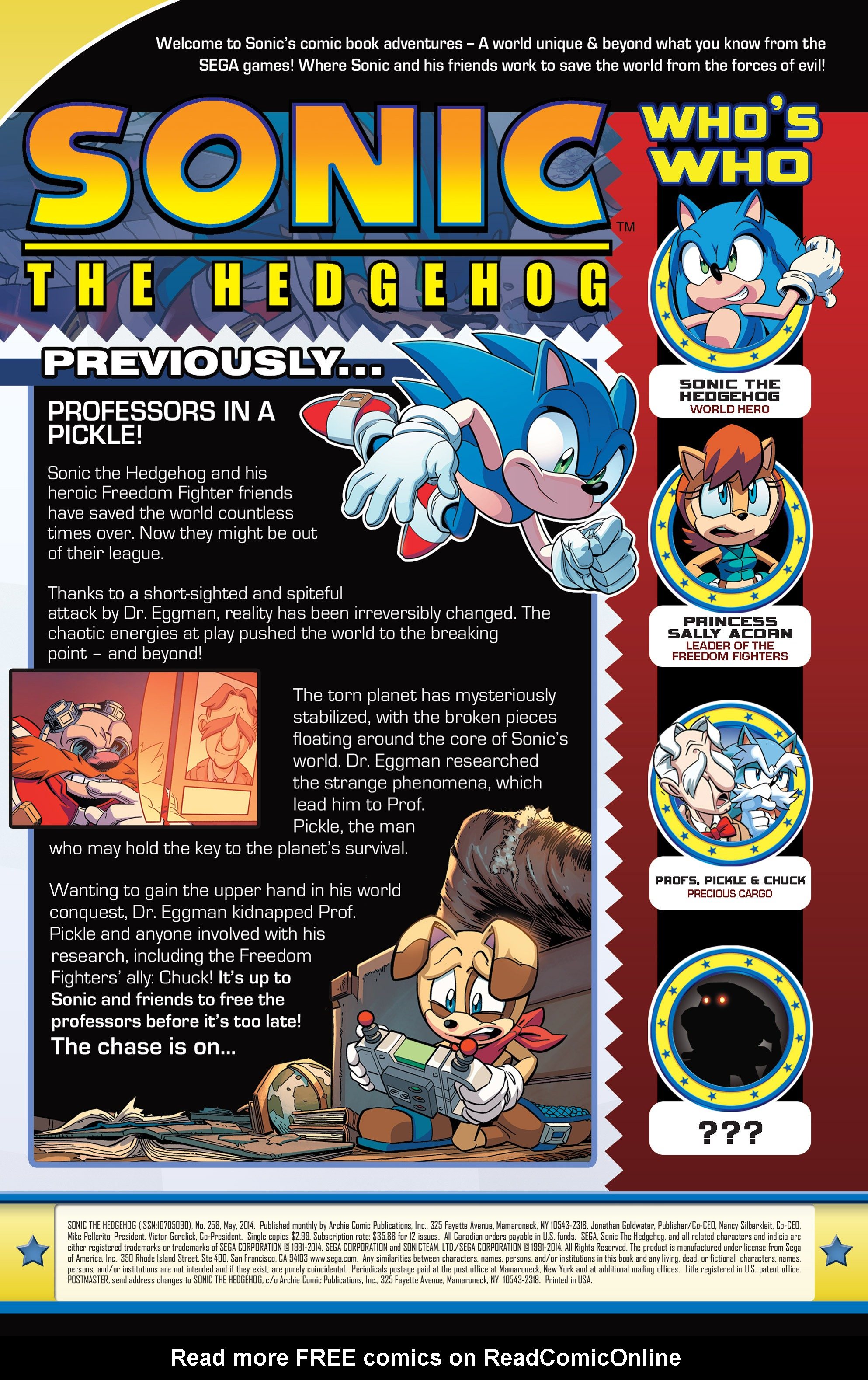 Read online Sonic The Hedgehog comic -  Issue #258 - 3