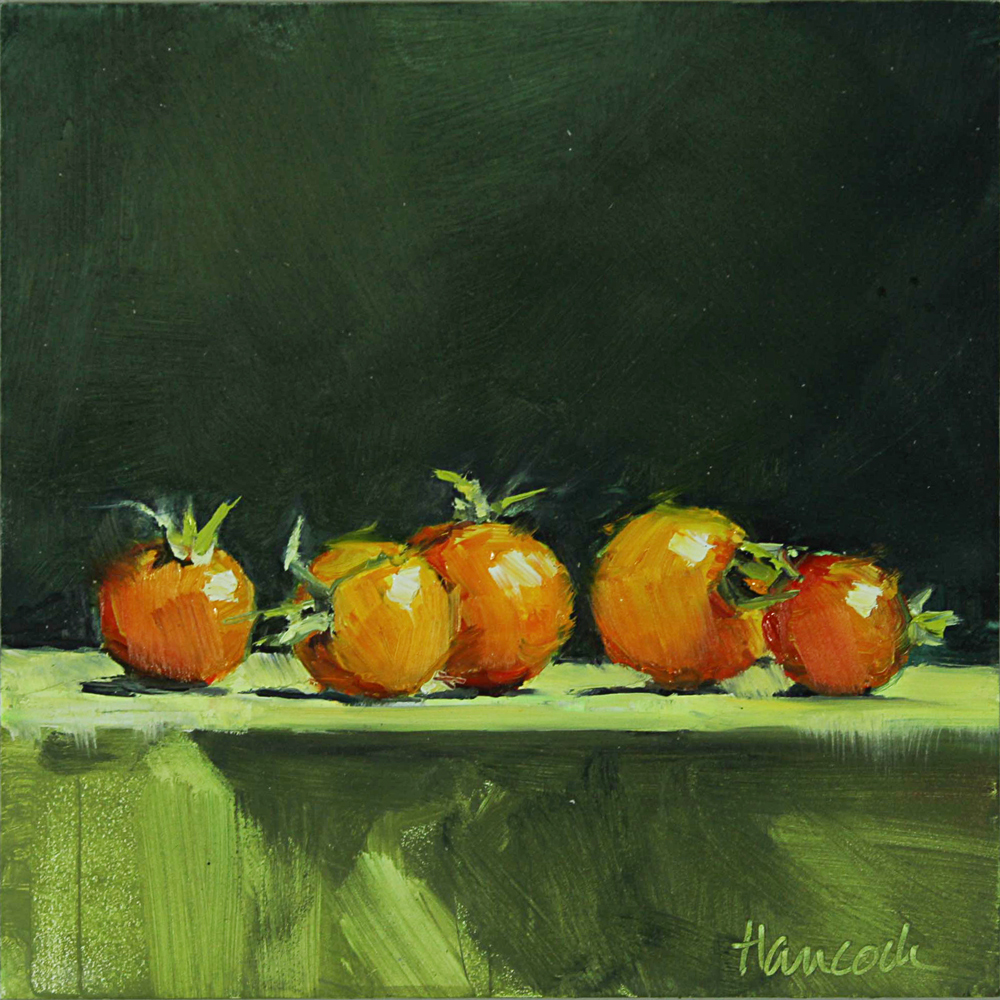 The Greens And Oranges Are Nearly Complementary Make A Dramatic But Simple Color Scheme I Frame 6 X Painting