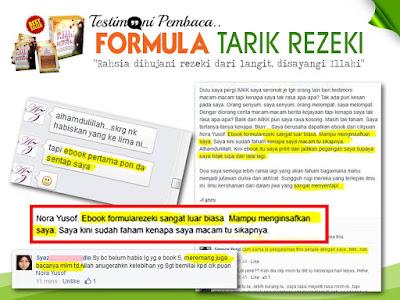 Luahan Alumni IMKK Setelah Membaca Panduan Formula Tarik Rezeki