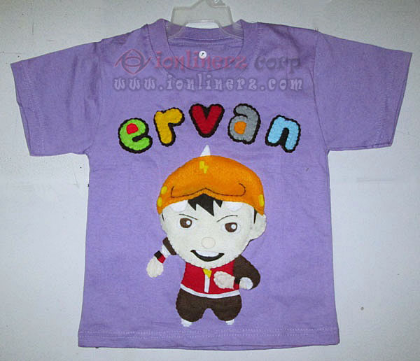 Kaos / Baju Flanel Anak Karakter Kartun Boboiboy