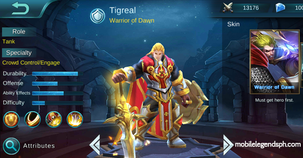 Tigreal, the Warrior of Dawn Guide, Build, & Walkthrough