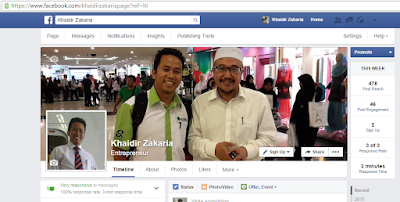 Facebook Page Official Khaidir Zakaria