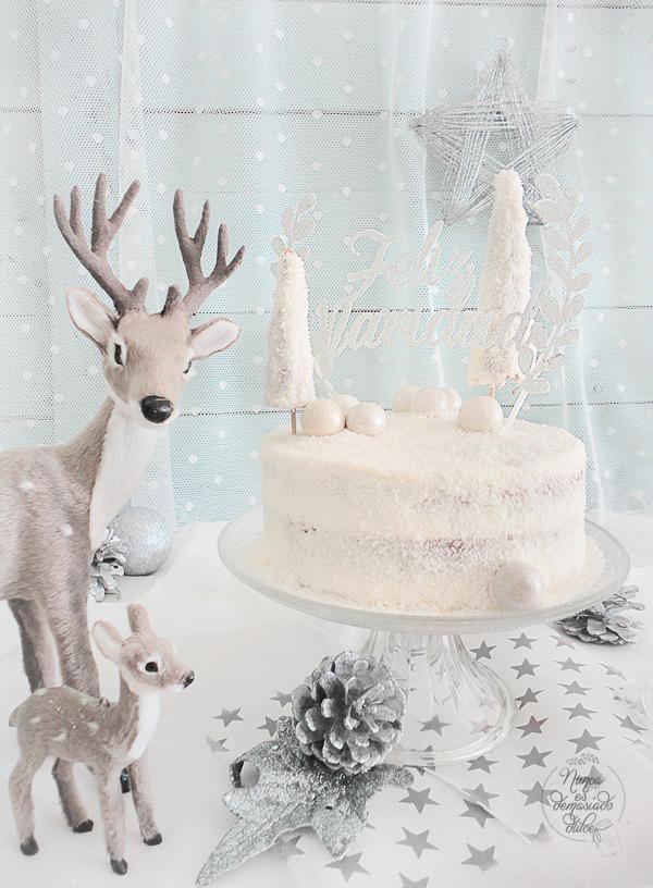tarta-invernal-blanca-coco-navidad-white-coconut-cake-winter