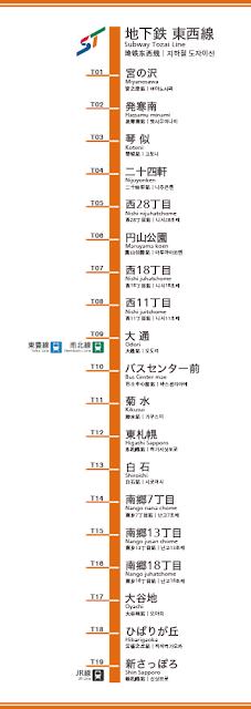 Sapporo Subway Tozai Line Route Map