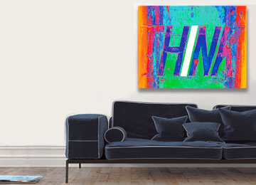 modern canvas print, multi coloured, rainbow colours, Sam Freek, urban art, urban decay, wall art,
