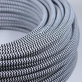Câble électrique Textile Tissu Torsadé Vintage Pour Restauration De