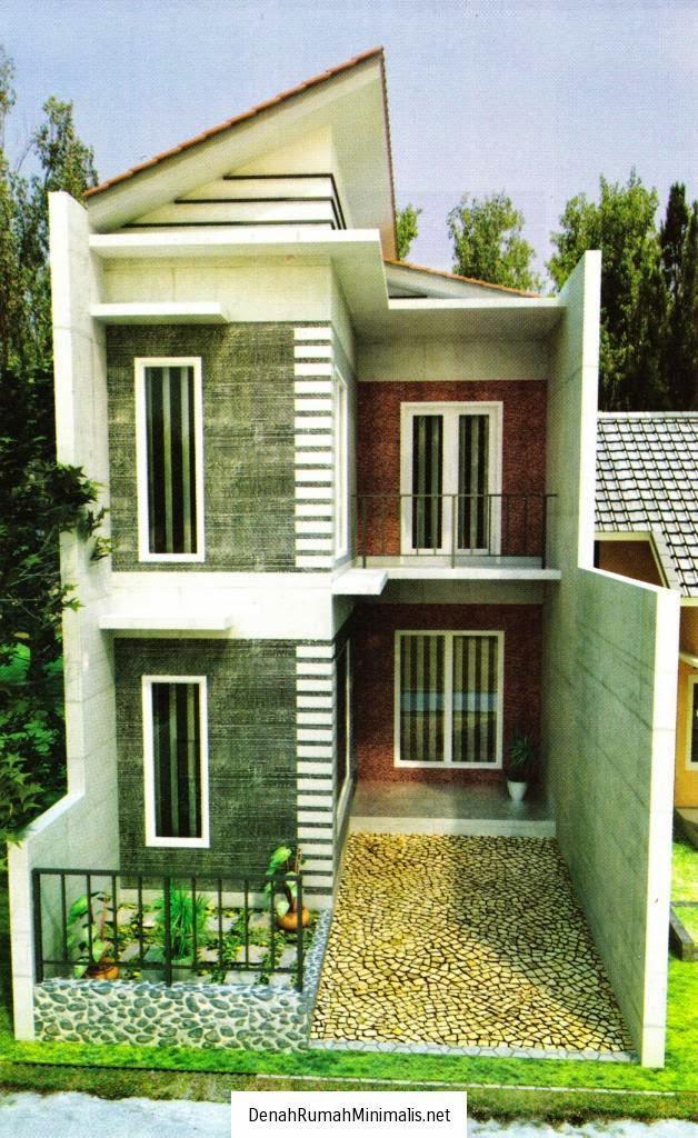 Desain Rumah Minimalis 2 Lantai Di Lahan Sempit  Gambar