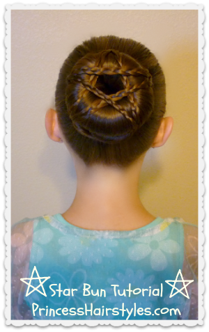 Star Shaped Hairstyle
