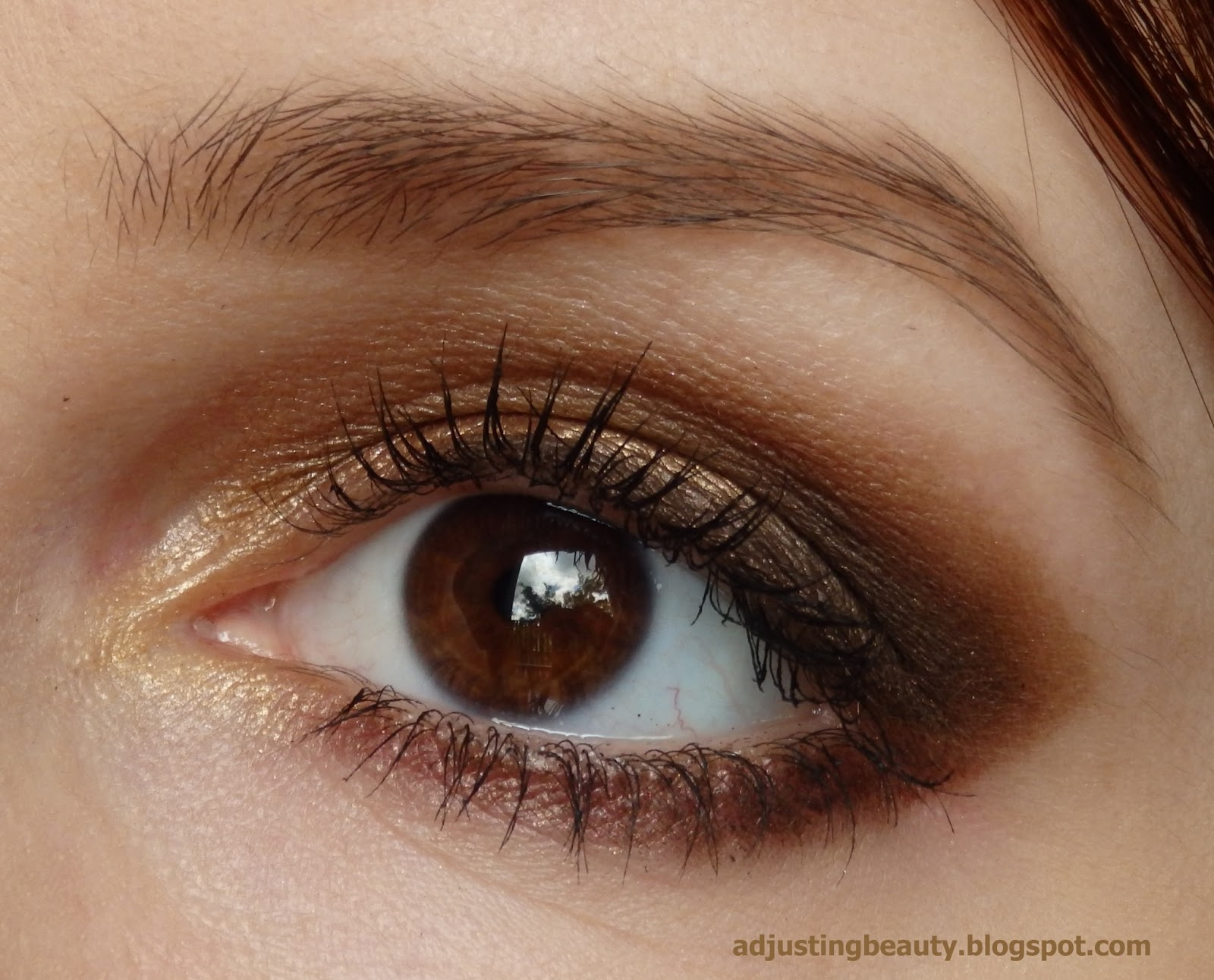 Party Look Golden Brown Smokey Eyes Adjusting Beauty