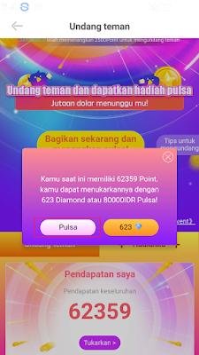 Pulsa Gratis dari Aplikasi Nimo TV