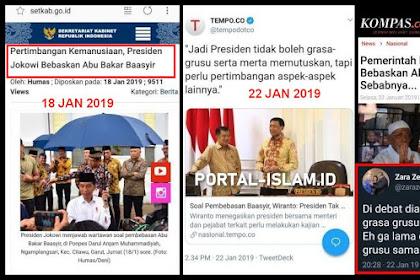 Dibalas Kontan! Saat Debat Ngatain Prabowo Grasa-grusu, Ternyata Jokowi Yang Grasa-grusu Pembebasan Ba'asyir