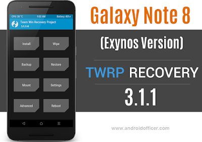 TWRP Recovery for Galaxy Note 8 Exynos