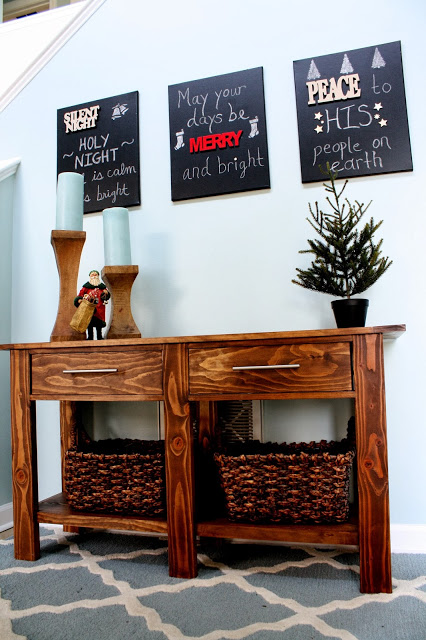 Christmas Chalkboard Canvas Signs