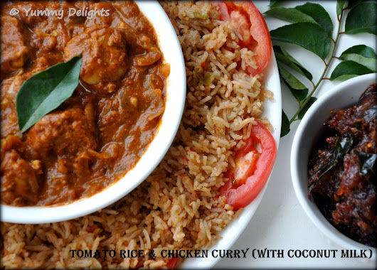 Tomato Rice & Chicken Curry