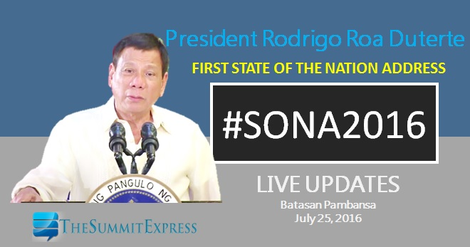 SONA 2016 LIVE UPDATES: President Duterte first State of the Nation Address