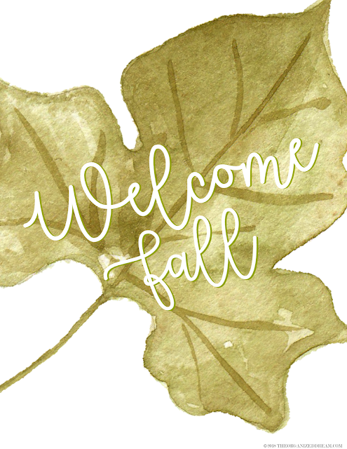 Free Welcome Fall printable.