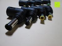 Stecker vorne: kwmobile Universal Notebook Ladegerät Netzteil 90W und USB Anschluss, Adapter für Acer, Asus, Lenovo, Liteon, Samsung, Sony, Toshiba und weiteren