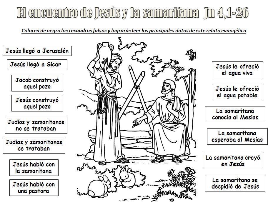 Educar con Jesús: El encuentro con la samaritana Jn 4,1-26