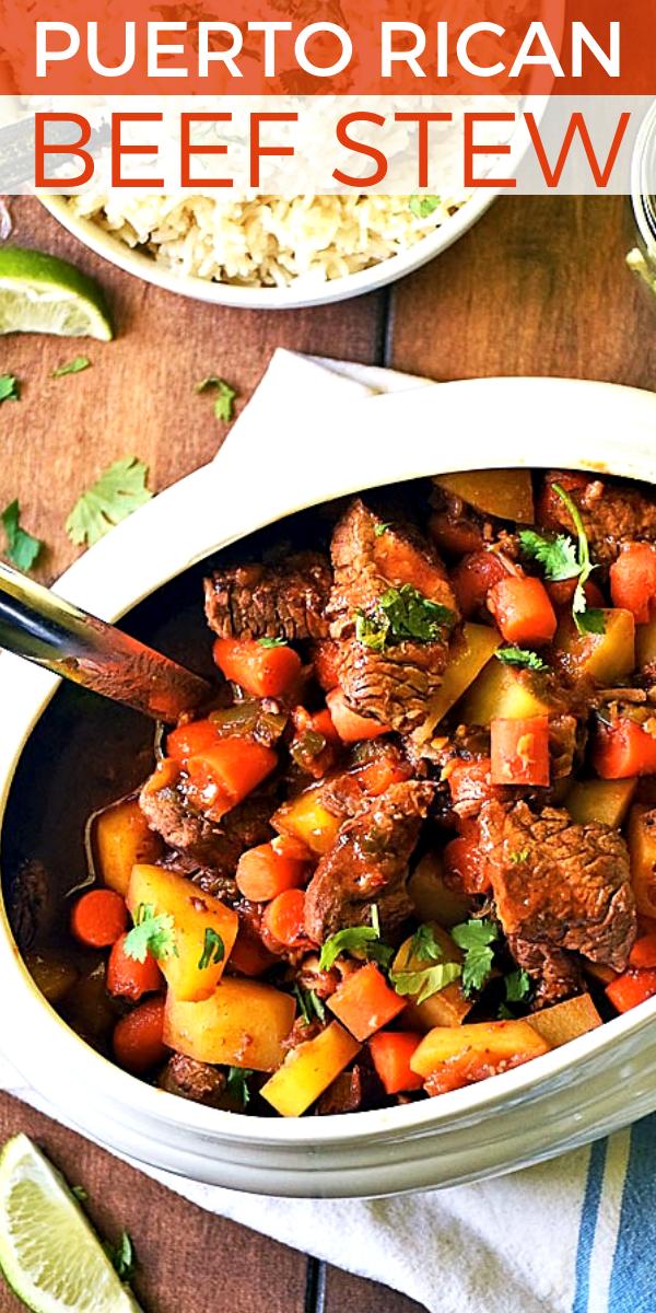 Puerto Rican Beef Stew - Carne Guisada on Pinterest