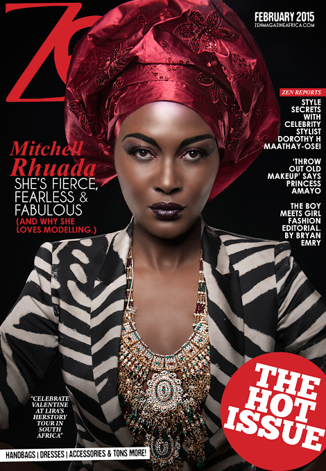 Mitchell Rhuada covers the Valentine Issue of Zen Magazine Africa