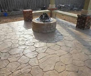 Diy stamped concrete