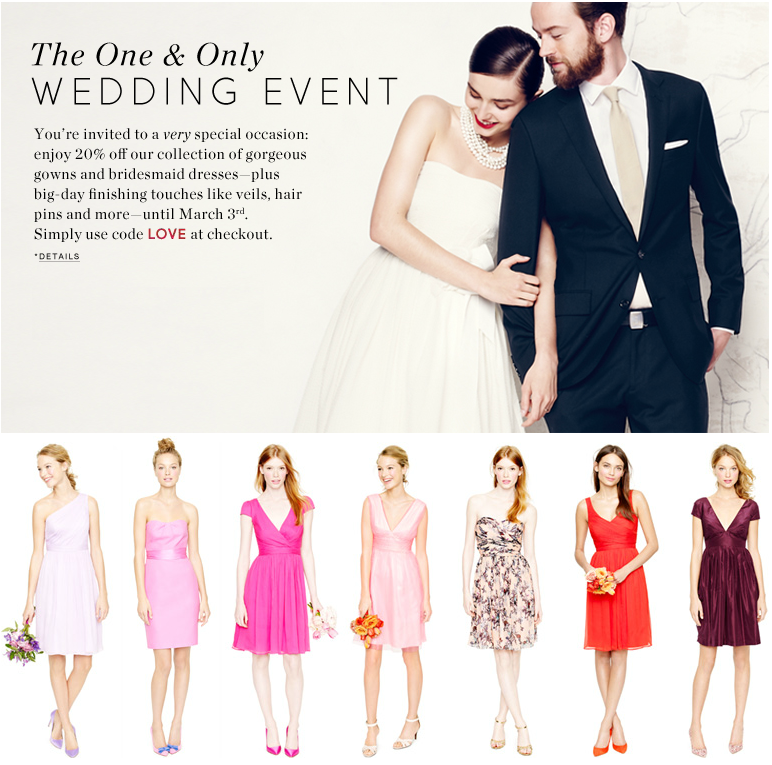 cf345aef0295b J.Crew Aficionada: The J.Crew Wedding Event: 20% Off Gowns ...