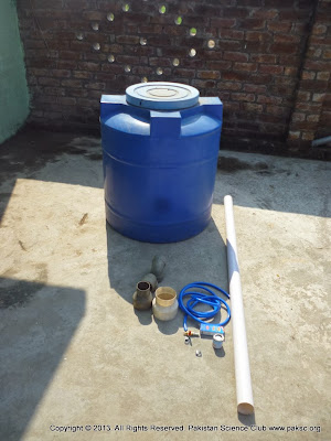 700 liter water tank and other Material for making of Plant