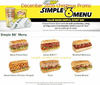 Subway coupons december