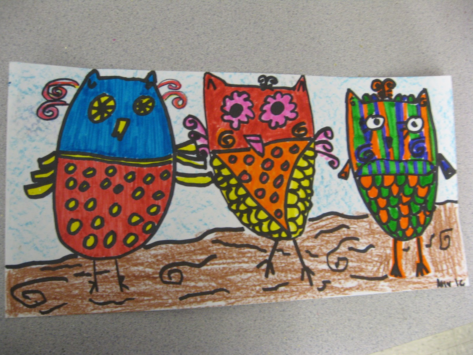 Jamestown Elementary Art Blog 1st Grade Color Scheme Owls
