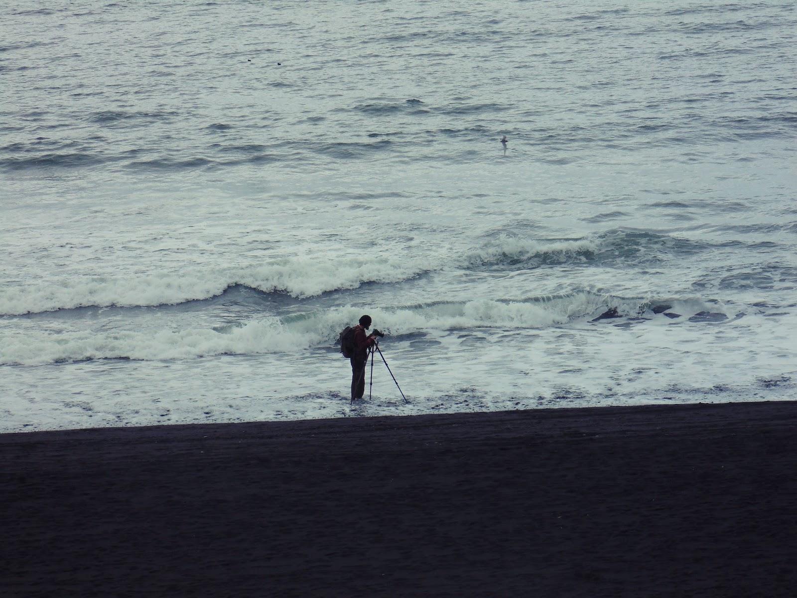 niebezpieczeństwo, fala, ocean, Islandia, fotograf, głupi turyści