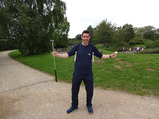 Richard Gottfried at the Coate Water Country Park Crazy Golf course in Swindon