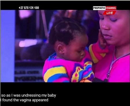 7 Months Old Baby Born Without V*gina Receives Spiritual One in Church (Video)