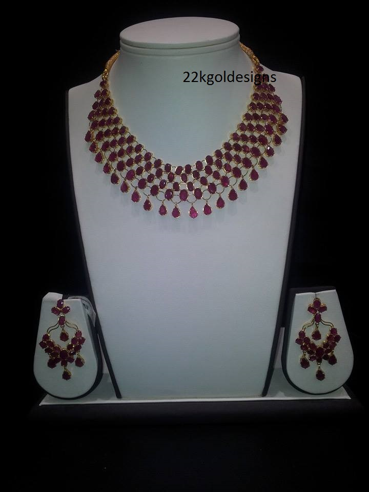 Lovely Ruby Necklace design