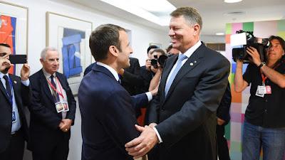 Klaus Iohannis, román-francia kapcsolatok, Emmanuel Macron