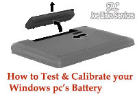 how to test and calibrate your windows pc's battery