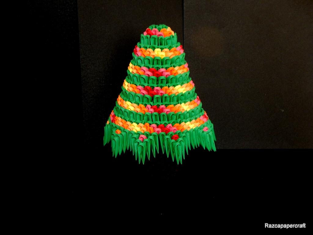 Razcapapercraft: 3D origami Christmas tree tutorial - photo#21