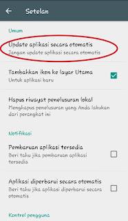 update aplikasi otomatis pada google play store