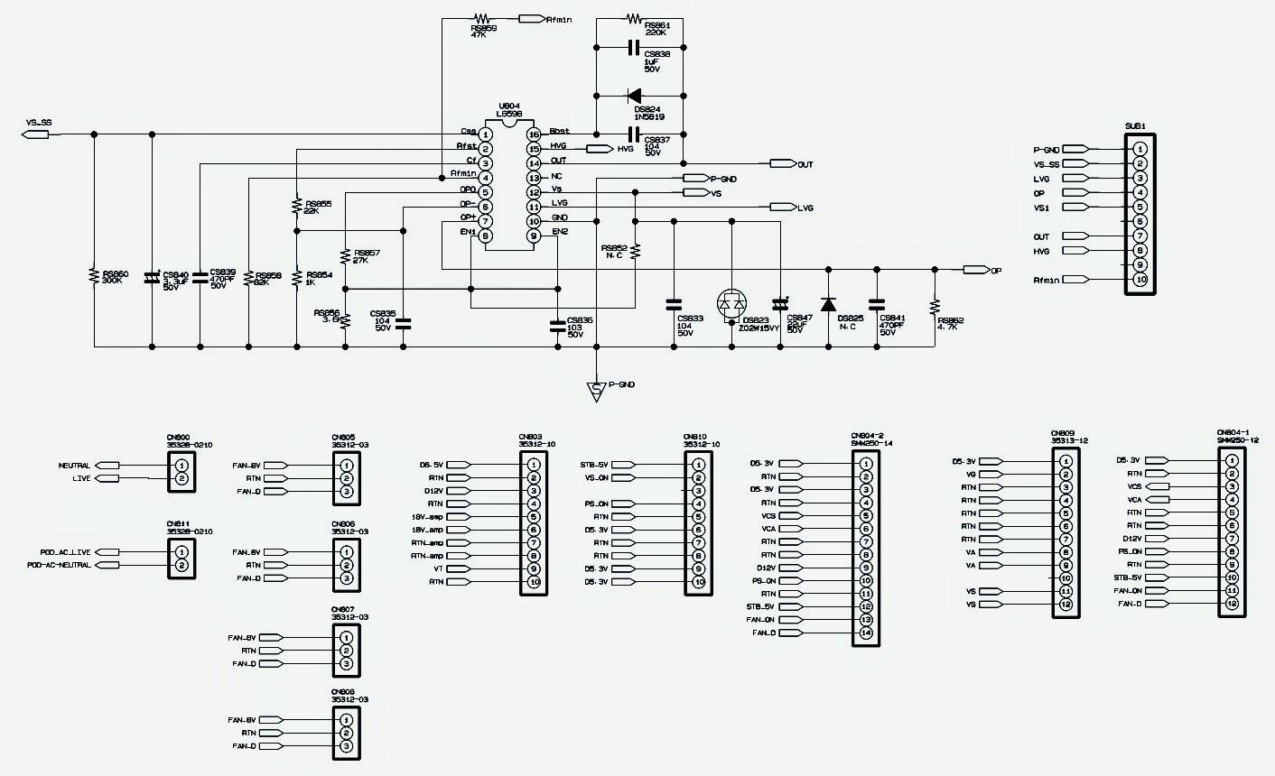 SAMSUNG BN94-03052A - LCD TV POWER SUPPLY SCHEMATIC ...