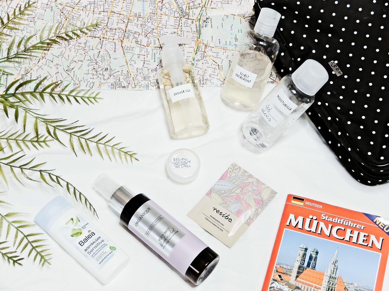 Pakowanie kosmetyczki na wyjazd, Wyjazdowa kosmetyczka,  Pakowanie kosmetyków na podróż, travel sets,