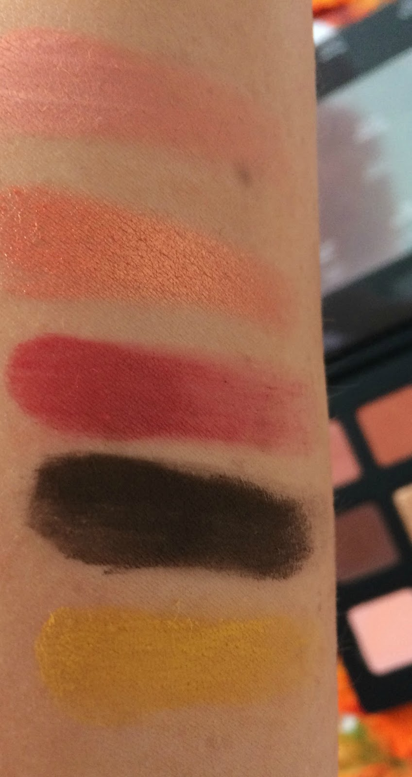 Natasha Denona Sunset Palette Swatches