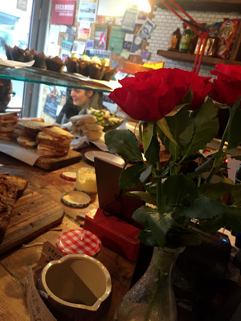 Flowers and Sandwiches