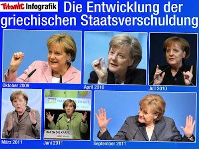 Lustige Bilder Angela Merkel Schuldenkrise Politiker zum lachen