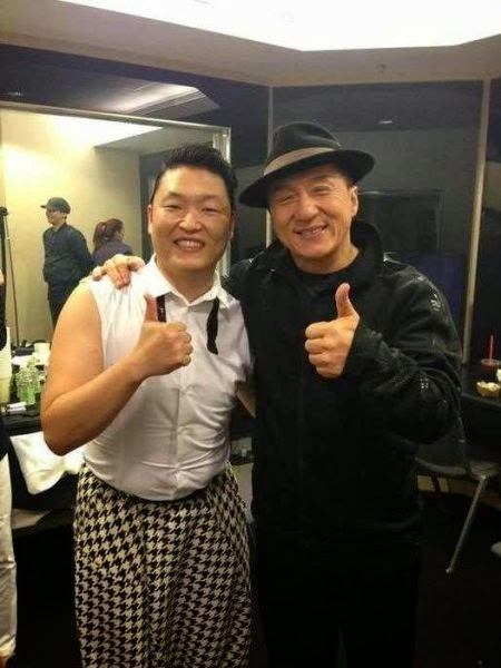 PSY and Jackie Chan