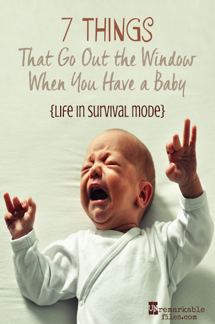 "There's a reason they call life with a newborn ""survival mode.""  {posted @ Unremarkable Files}"