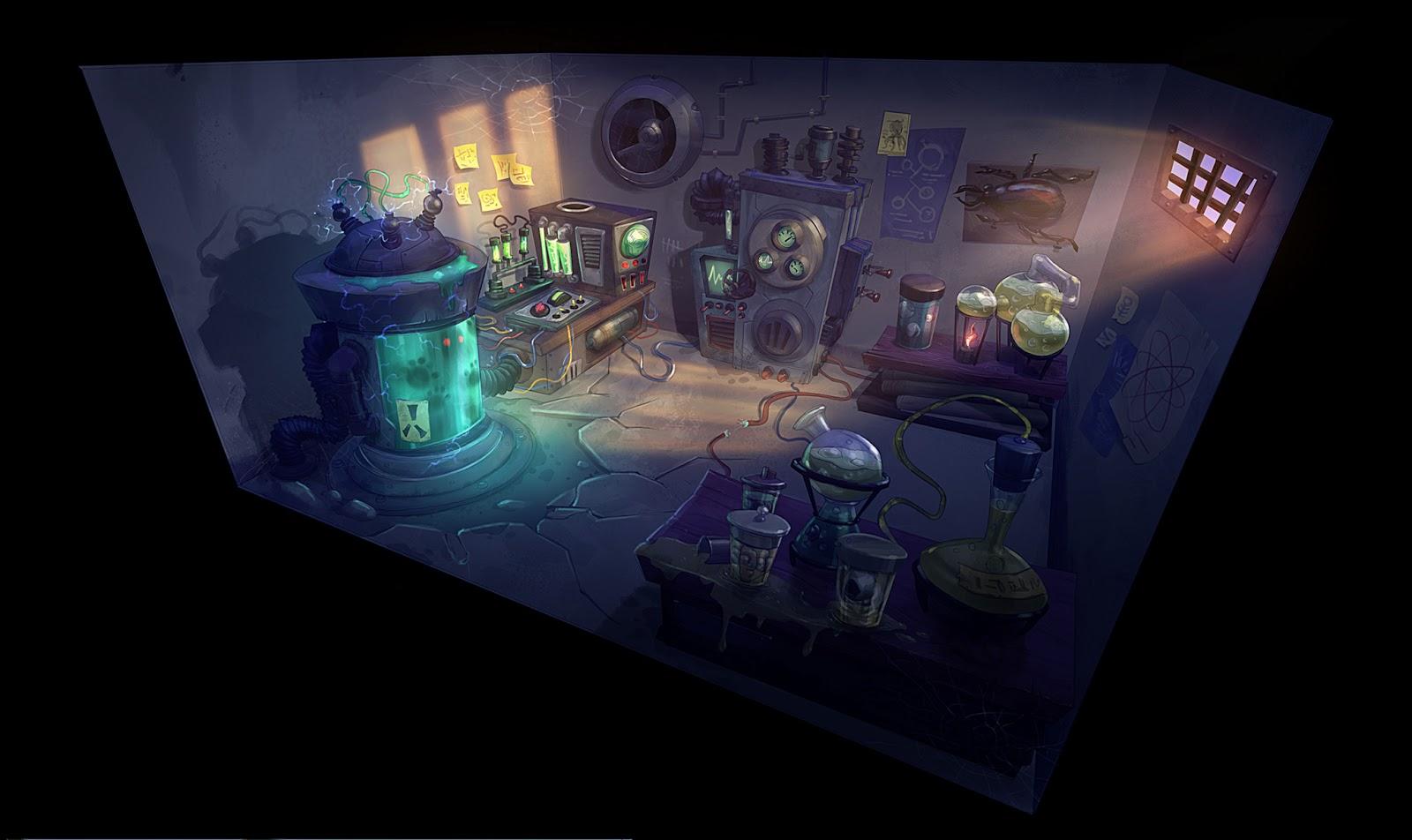 Haunted House 3d Wallpaper Jose Cua S Sketchblog Mad Scientists Laboratory