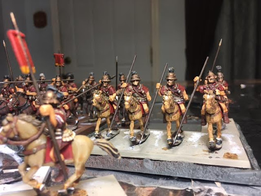 Paint Bench: 12th Update on mass painting project of Romans and Sussessor troops 28mm Aventine Miniatures