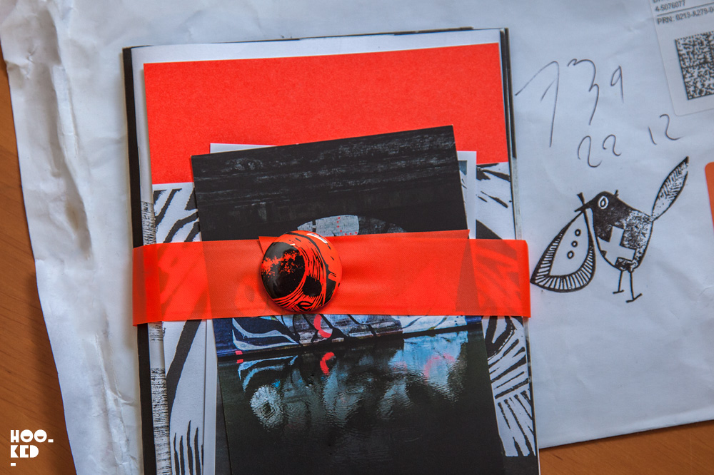 Artist Lucy McLauchlan's self published Tauranga Zine.UK Photo ©Hookedblog / Mark Rigney
